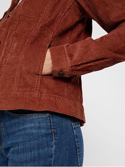 Vero Moda Ženska jakna VMMIKKY LS BOXY CORDUROY JAKNA COLOR Mahagoni