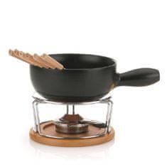 Kela Sýrové fondue - NATURA 10-dílné keramika, nerez, chróm, buk