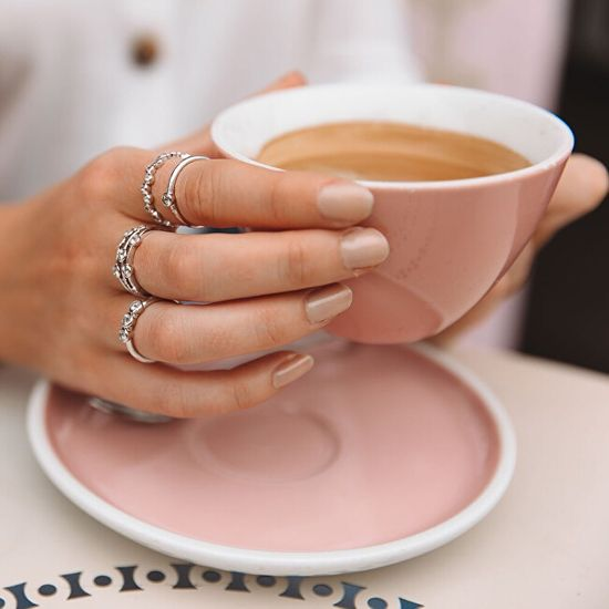 Hot Diamonds Luksuzen srebrni prstan s topazom in diamantno vrhovo DR207 srebro 925/1000