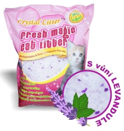 Crystal Litter Cat levendula illattal, 3,8 literes