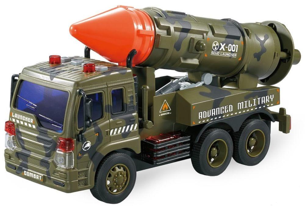 Lamps Vojenské auto s raketou na baterie