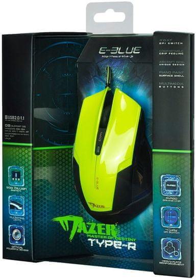 E-Blue mysz przewodowa Mazer R, zielona (EMS124GR)