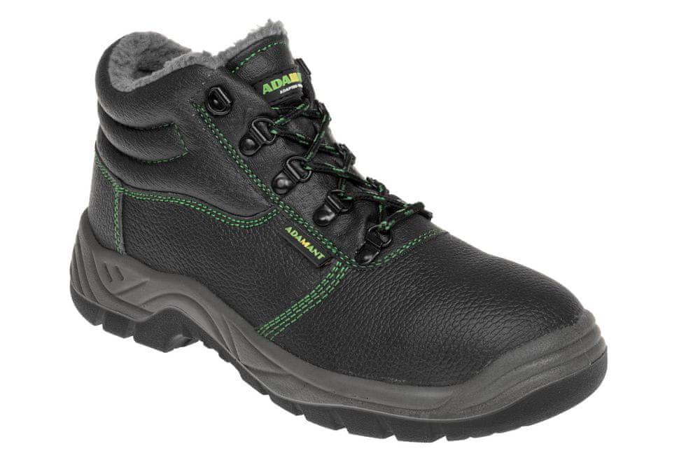 Adamant Zimní bezpečnostní kotníková obuv Classic O2 černá 45
