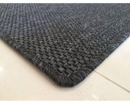 Vopi Kusový koberec Nature antracit čtverec