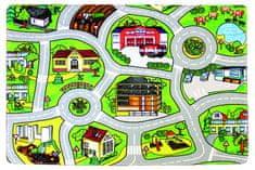 Protiskluzový kusový koberec Silnice 110x160