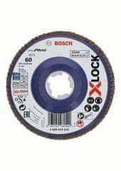 BOSCH Professional Lamelna plošča X-LOCK, ravna izvedba, plastična plošča, Ø125mm, G 60, X571, (2608619210)