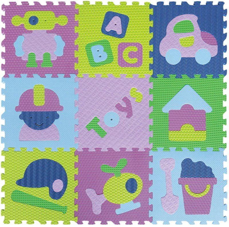 Baby Great Penové puzzle Hračky pre chlapcov XS 9 dielikov