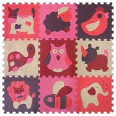Baby Great Pěnové puzzle Zvířata červená-růžová SX (30x30)