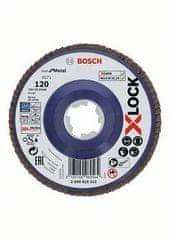 BOSCH Professional lamelna plošča X-LOCK ravna izvedba, plastična plošča, Ø125mm, G 120, X571, (2608619212)