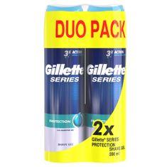 Gillette moški gel za britje Gillette Series Protection, 2 x 200 ml