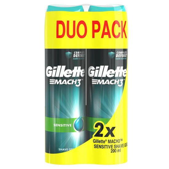 Gillette Mach3 Sensitive gel 2x200 ml