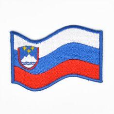 Slovenija našitek zastava valovita