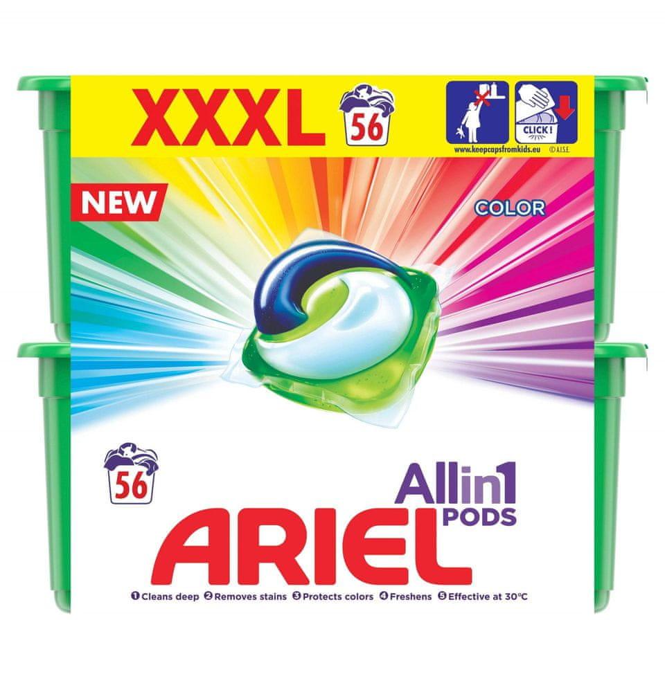 Ariel Color All In One gelové kapsle 56 ks
