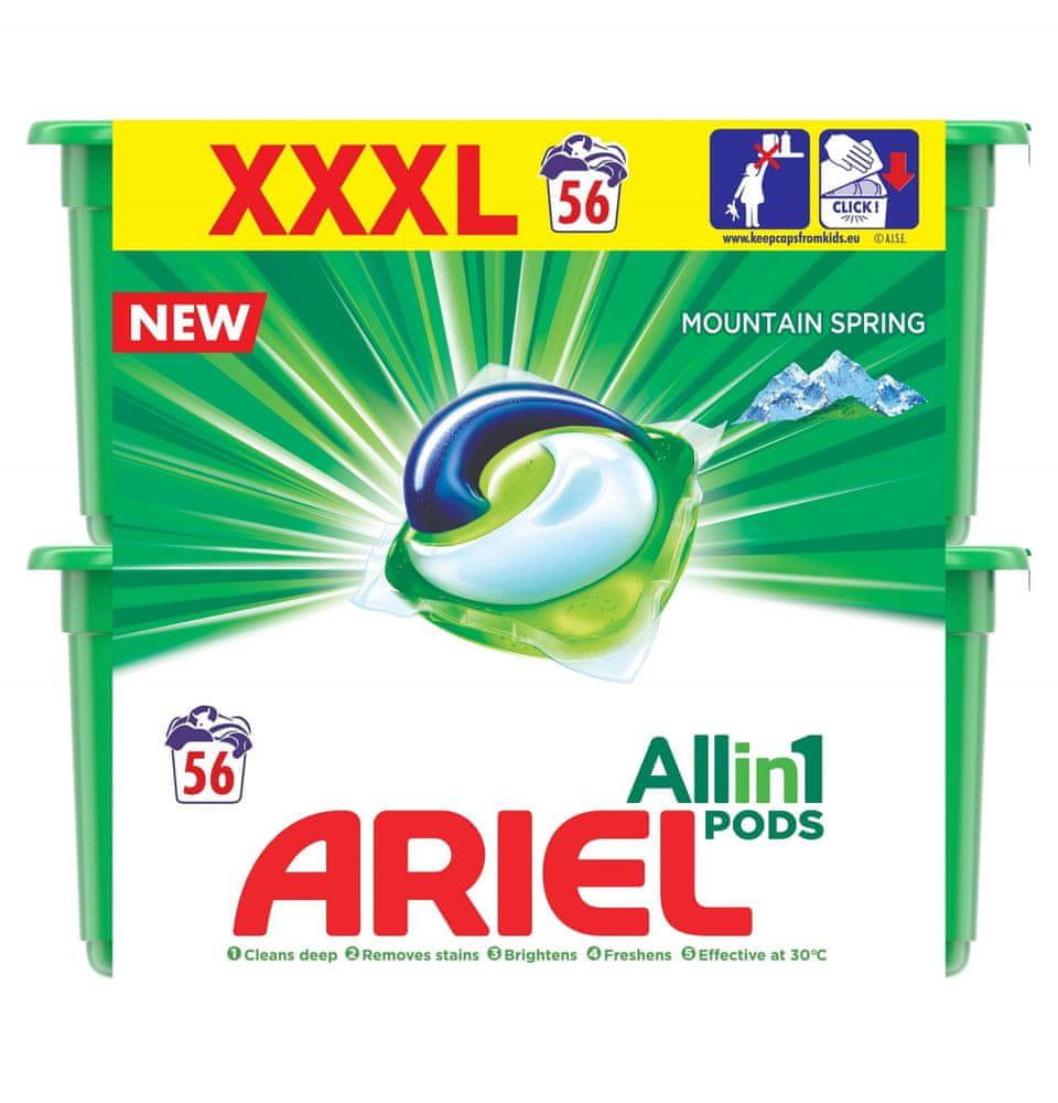 Ariel Mountain Spring All In One gelové kapsle 56 ks