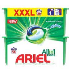 Ariel Mountain Spring 3in1 Mosókapszula, 56 db