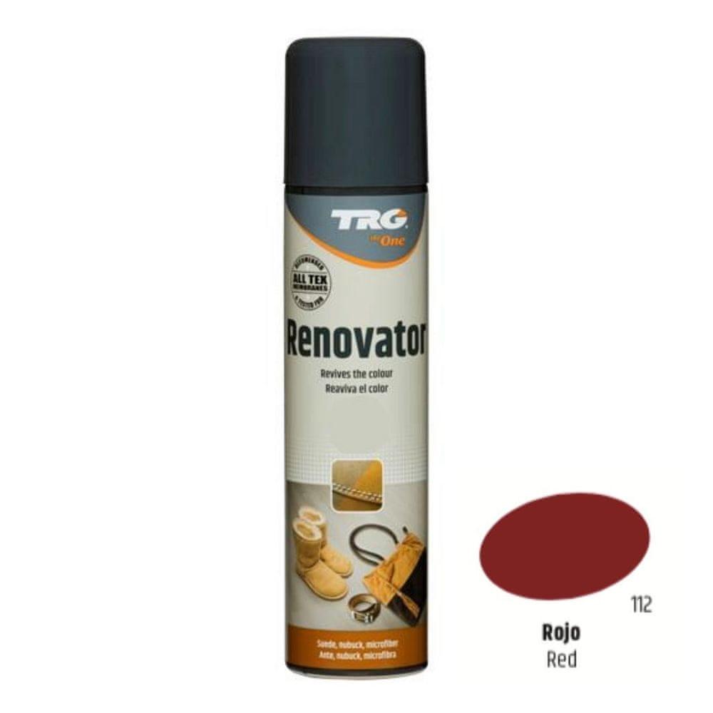 TRG One Barvící sprej na semiš, nubuk a ovčí kůži Suede Renovator - Červená 112 Red