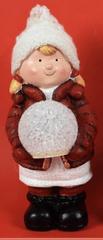 DUE ESSE Dekorace svítící figurka s červenou bundou č.2