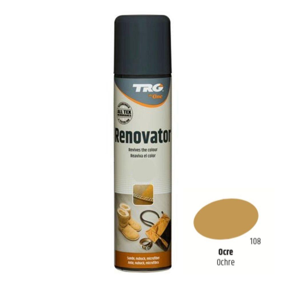 TRG One Barvící sprej na semiš, nubuk a ovčí kůži Suede Renovator - Béžová 108 Ochre