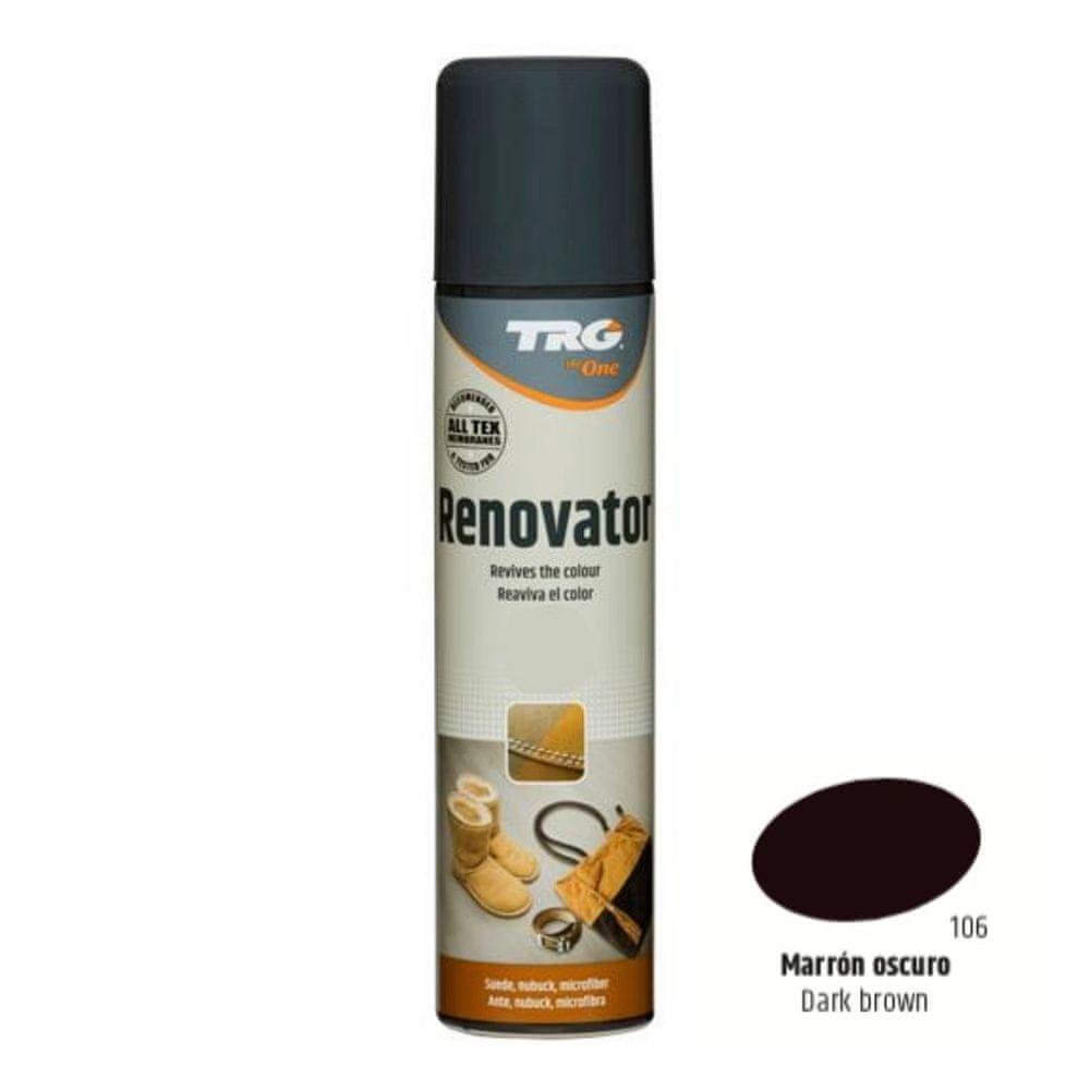 TRG One Barvící sprej na semiš, nubuk a ovčí kůži Suede Renovator - Hnědá 106 Dark Brown