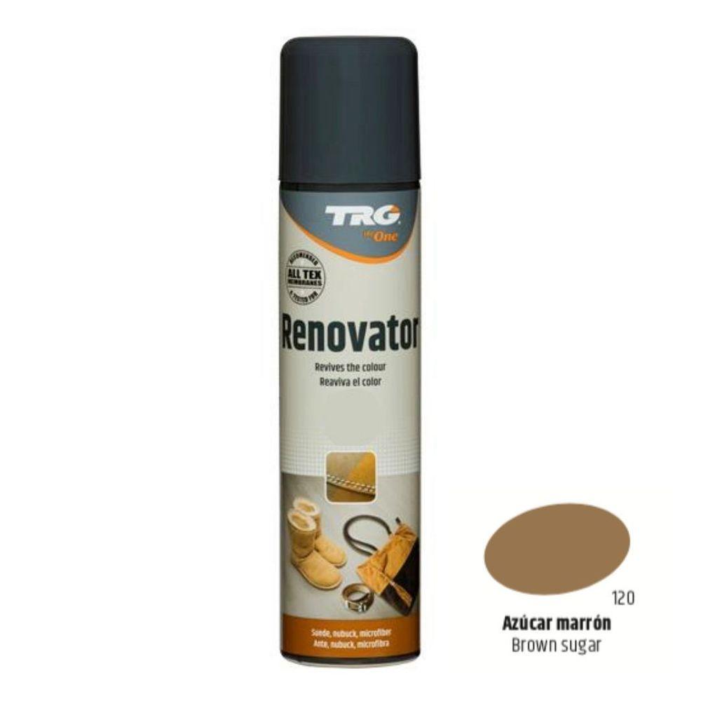 TRG One Barvící sprej na semiš, nubuk a ovčí kůži Suede Renovator - Béžová 120 Brown Sugar