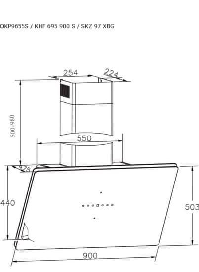 Amica OKP9655S stenska napa (1161162)