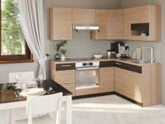 Nejlevnější nábytek Rohová kuchyně RUTHIN 195x150 cm, rijeka světlá