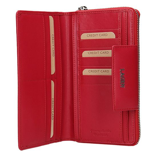 Lagen Női bőr pénztárca 50311 Red