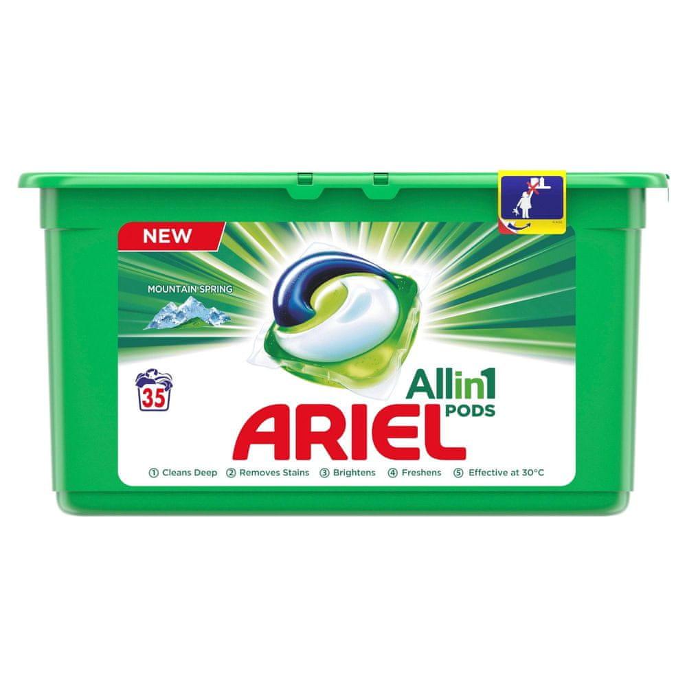 Ariel Mountain Spring Kapsle Na Praní Prádla All In 1 35 Praní