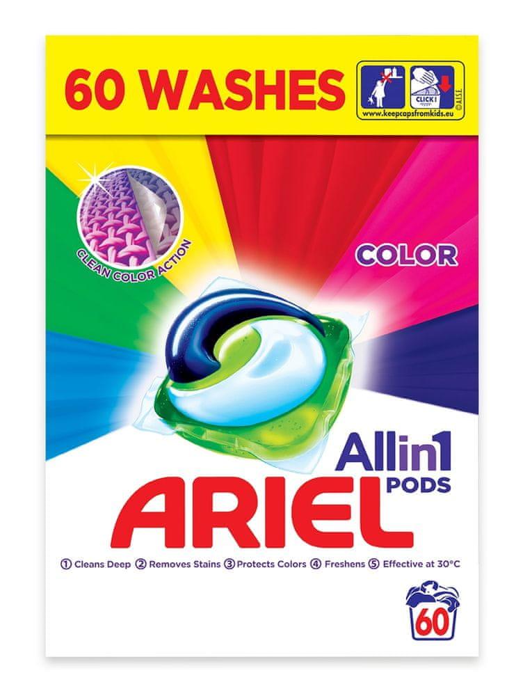 Ariel All in 1 Color gelové kapsle 60 ks
