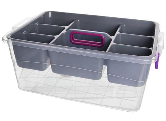 Hobby Life Box multi obdélník, přihrádky, 20 l