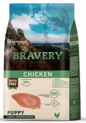 Bravery Dog PUPPY Large / Medium Grain Free chicken 12 kg