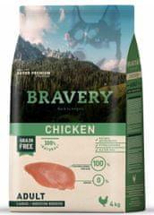 Bravery Hrana za pse Dog ADULT Large / Medium Grain Free chicken, 4 kg