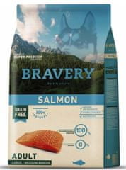Bravery Dog ADULT Large / Medium Grain Free salmon 4 kg