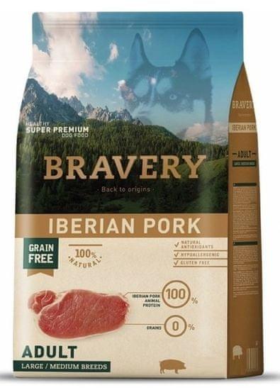 Bravery hrana za pse Dog ADULT Large / Medium Grain Iberian pork, 4 kg