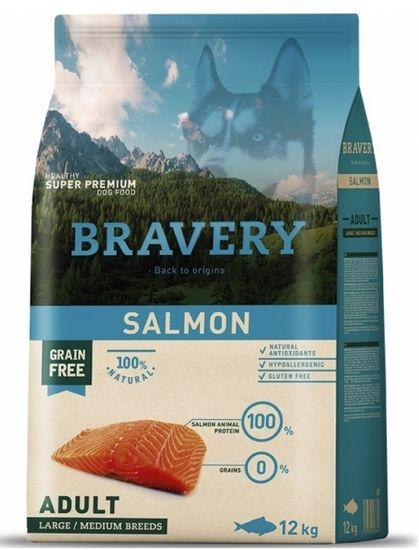 Bravery Dog ADULT Large / Medium Grain Free salmon 12 kg