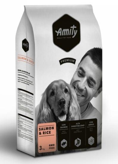 Amity hrana za pse Premium dog Salmon & Rice, 3 kg