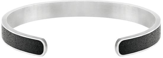 Gravelli Pevný ocelový náramek s betonem Fusion Bold ocelová/atracitová GJBMSSA101UN
