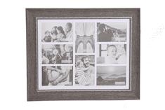 Sifcon Nástěnný fotorámeček na 8 ks fota, 41,5 × 51,7 × 2,3 cm