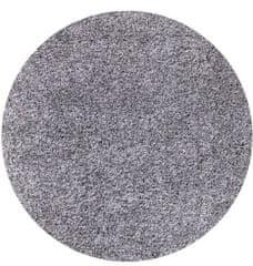 Ayyildiz Kusový koberec Life Shaggy 1500 light grey kruh 80x80 (průměr) kruh