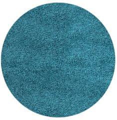 Ayyildiz Kusový koberec Life Shaggy 1500 tyrkys kruh 80x80 (průměr) kruh