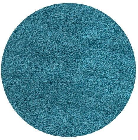 Ayyildiz Kusový koberec Life Shaggy 1500 tyrkys kruh