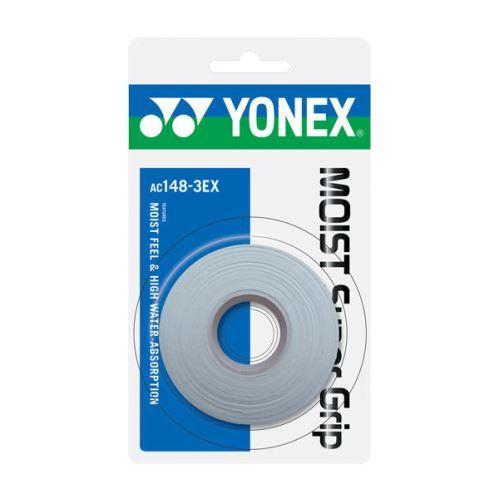 Yonex Omotávka Moist Grip AC 222EX   3 ks   bílá