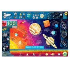 eeBoo Puzzle Sluneční soustava 100 kusů