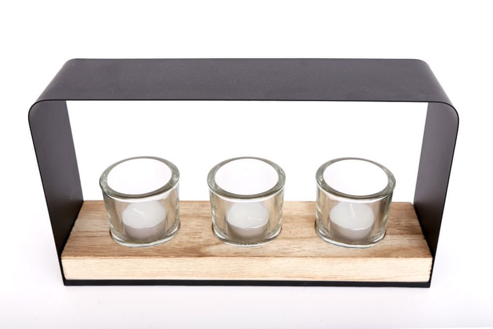 Sifcon Svícen na 3 ks čajové svíčky, 18x30 cm