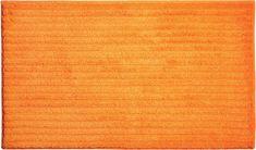GRUND Česká koupelnová předložka, RIFFLE 70x120 cm, oranžová