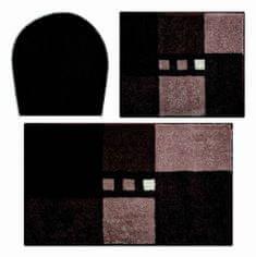 LineaDue Česká koupelnová předložka, MERKUR víko,40x50cm+50x80cm, hnědá