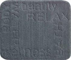 LineaDue Česká koupelnová předložka, FEELING 50x60 cm, antracitová