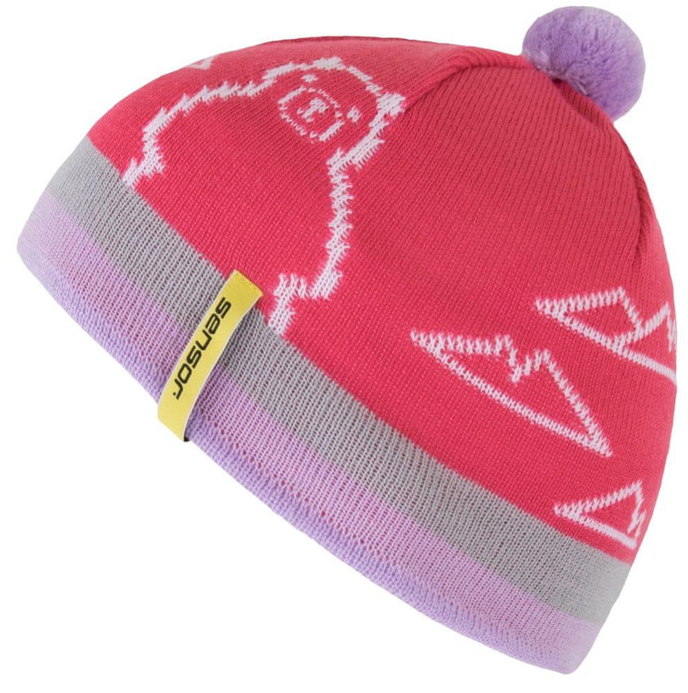 Sensor dívčí čepice Bear růžová