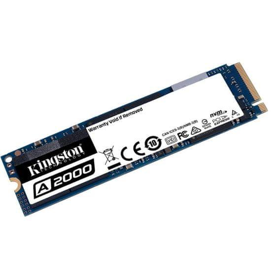 Kingston A2000 SSD disk, 1TB, M.2, NVMe PCIe (SA2000M8/1000G)