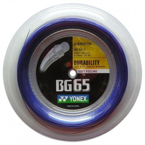 Yonex Badmintonový výplet BG 65, 0,70mm, 200m, modrý